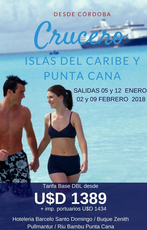CRUCERO ISLAS DEL CARIBE y PUNTA CANA