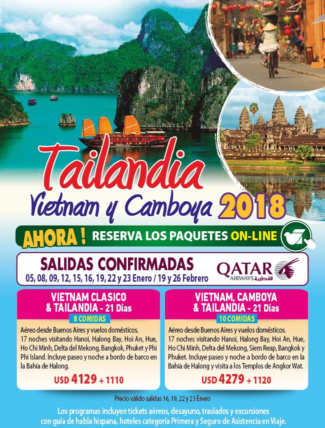 TAILANDIA, VIETNAM Y CAMBOYA 2018